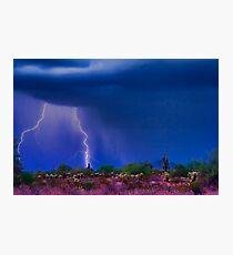 Desert Purple Storm Photographic Print