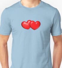 Big and chubby red hearts... Unisex T-Shirt