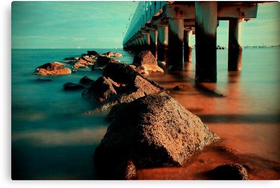 Port Melbourne Pier by Angie Muccillo