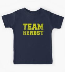 Team Herbst, Yellow, Kids Tee