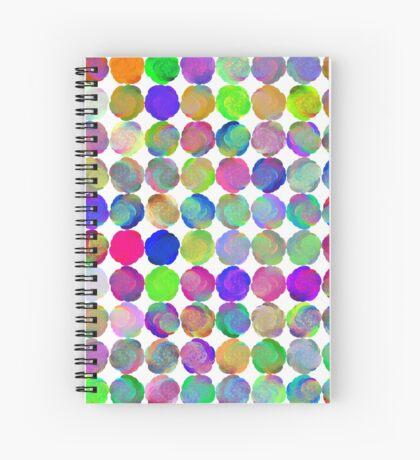Space snowballs #fractal art Spiral Notebook