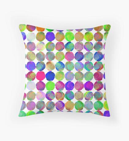 Space snowballs #fractal art Throw Pillow