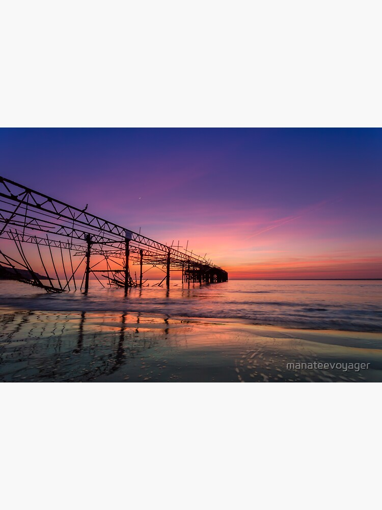 Totland Pier Caught In The Afterglow by manateevoyager