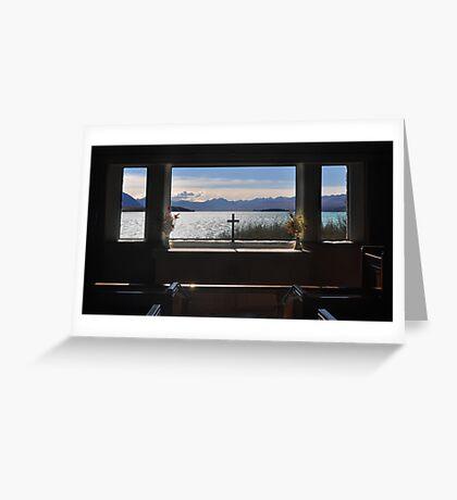 Through the Altar Window Greeting Card