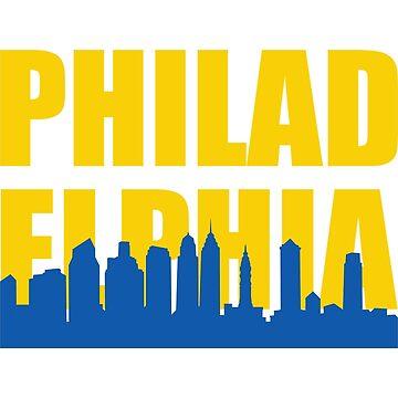 Philadelphia Pennsylvania Skyline Silhouette by CafePretzel