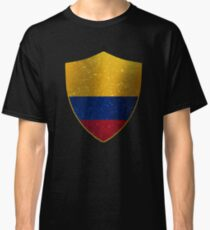 Colombia Flag Shield Classic T-Shirt