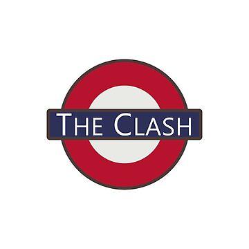 The Clash London Underground Tube Logo design by GetItGiftIt