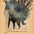 Tree Head Monoprint Monster by benconservato