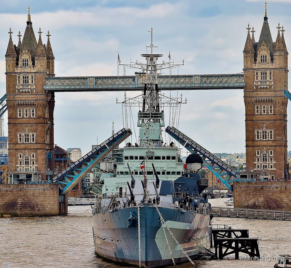 HMS Belfast - Tower Bridge - London by InterestingImag