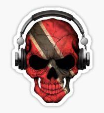 Dj Skull with Trinidad and Tobago Flag Sticker