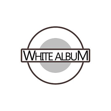 White Album London Underground Tube Logo design by GetItGiftIt