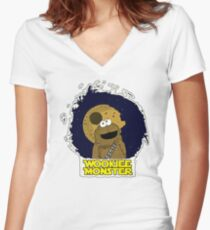 Wookiee Monster... Women's Fitted V-Neck T-Shirt
