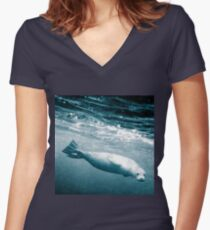 Seal Below the Surf Women's Fitted V-Neck T-Shirt