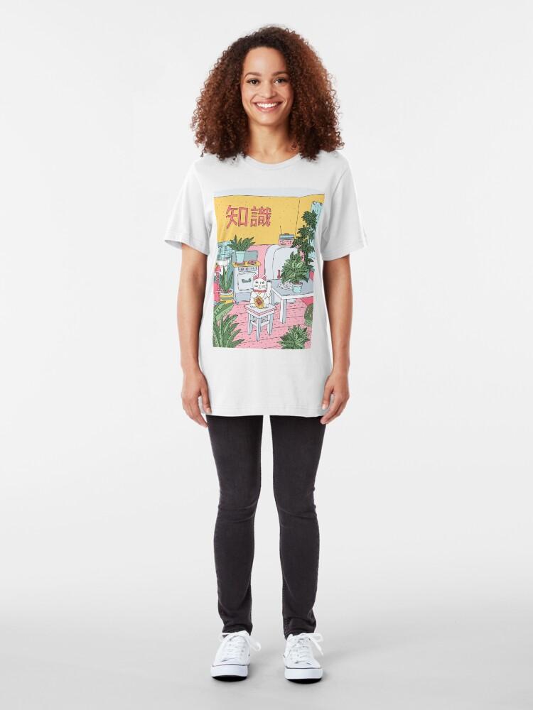 Alternative Ansicht von Maneki-Pflanzen Slim Fit T-Shirt