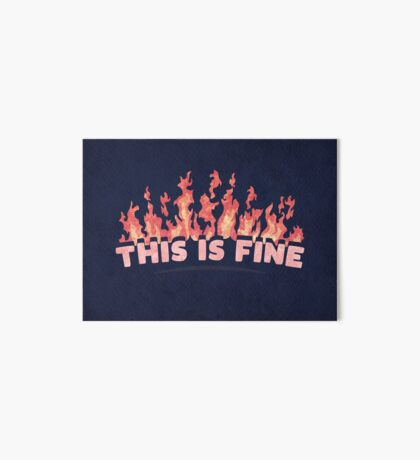 This is Fine Art Board Print