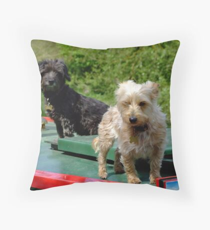 Canal canines Throw Pillow