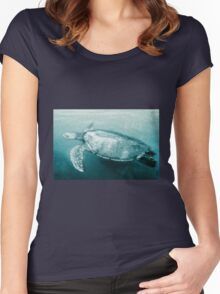 Green Turtle Surfacing - Grand Cayman Women's Fitted Scoop T-Shirt