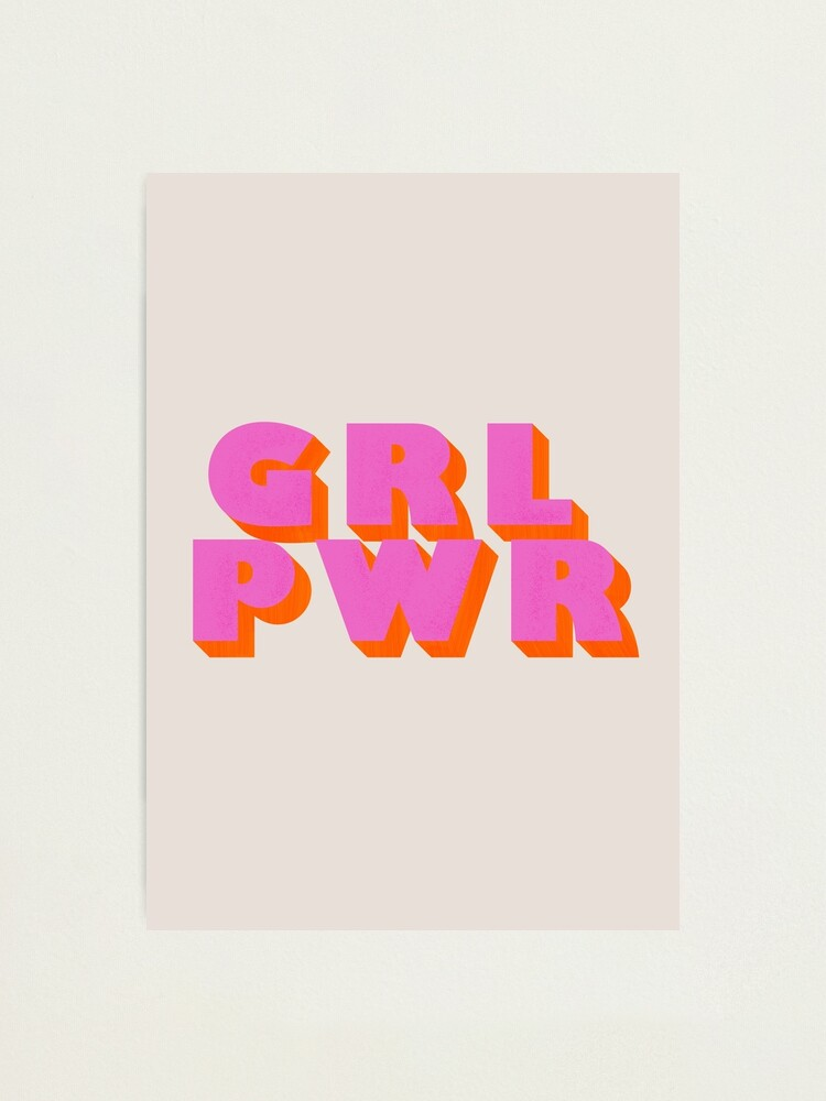 Alternate view of Girl Power - typography Photographic Print