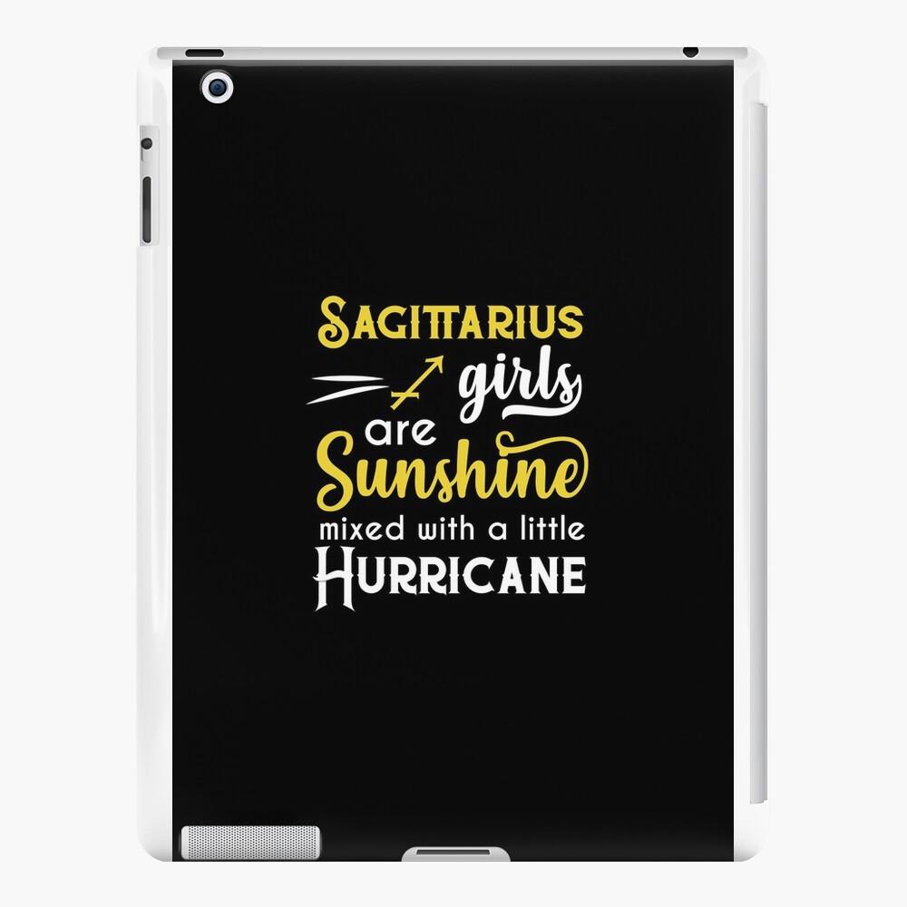 Schützenmädchen sind Sonnenschein gemischt mit einem kleinen Sternzeichen Hurricane Sternzeichen Geburtstag Horoskop iPad-Hüllen & Klebefolien