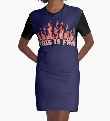 This is Fine Graphic T-Shirt Dress