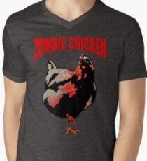ZOMBIE CHICKEN Mens V-Neck T-Shirt