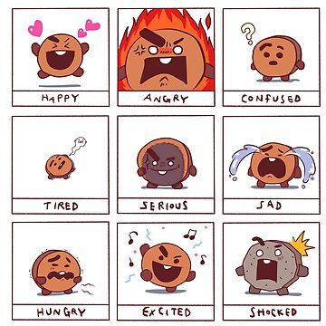 verrückte Gesichter Cartoon von tonguetied