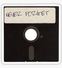 Vergessen Sie niemals Computer-Disketten Sticker