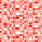 Mod Gingham - Red - Repeating Pattern by Autumn Musick