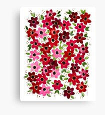 Raspberry Flowers Canvas Print