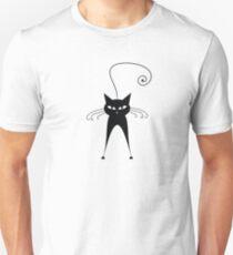Black cat silhouette T-Shirt