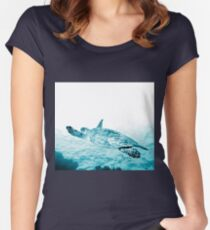 Turtle Gliding Women's Fitted Scoop T-Shirt