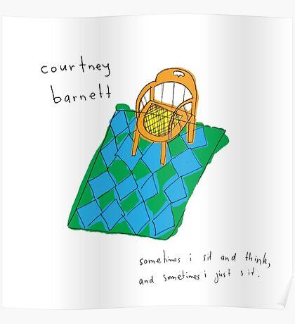 Courtney Barnett 'Sometimes' Album (w/ text) Poster