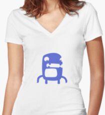 Skull Monster Women's Fitted V-Neck T-Shirt