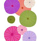 Colorful Sea Urchins - Purple + Magenta by latheandquill