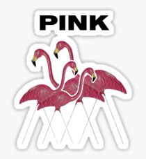 Pink Flamingos Textigraph Sticker