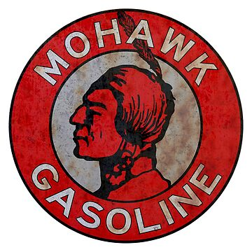 Mohawk Gasoline vintage sign rust version by htrdesigns