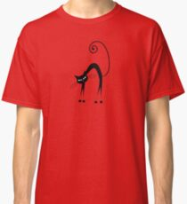 Black cat silhouette Classic T-Shirt