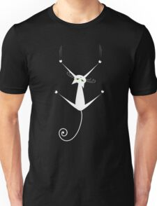 White cat silhouette Unisex T-Shirt