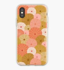 Sea Urchins in Gold + Coral iPhone Case