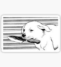 Messer Hund Sticker