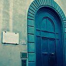 church door in blue by youngkinderhook