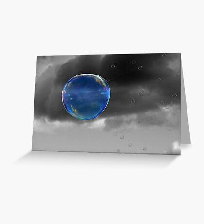 Blue Bubble Greeting Card