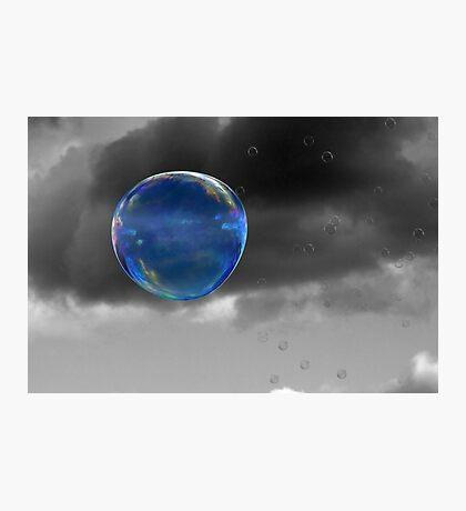 Blue Bubble Photographic Print