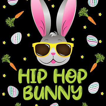 Hip Hop Bunny Easter Rabbit Egg Hunt Funny Glasses Face by ZNOVANNA