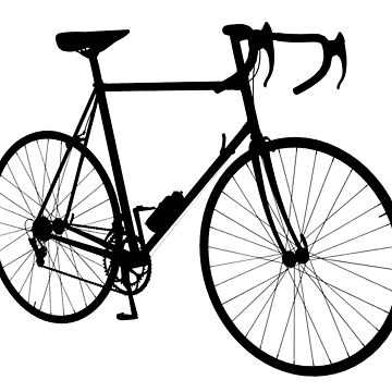 Racing Bicycle Silhouette by TOMSREDBUBBLE