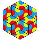 Fleur de Lis Puzzle Cubes by weavernap
