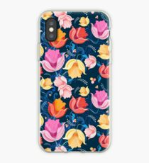 pattern of flowers tulips iPhone Case