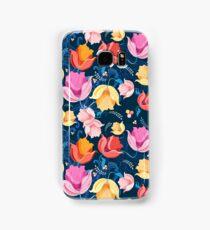 pattern of flowers tulips Samsung Galaxy Case/Skin