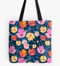pattern of flowers tulips Tote Bag