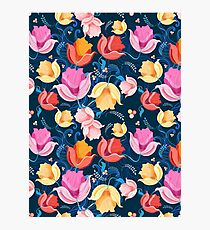 pattern of flowers tulips Photographic Print